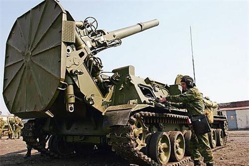 Cối tự hành 2S4 Tyulpan của Quân đội Nga. Ảnh: TASS.