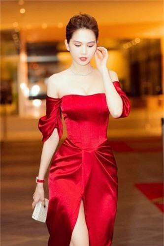 Ngoc Trinh dien vay do chot khoe than hinh nuot khong ty vet-Hinh-2