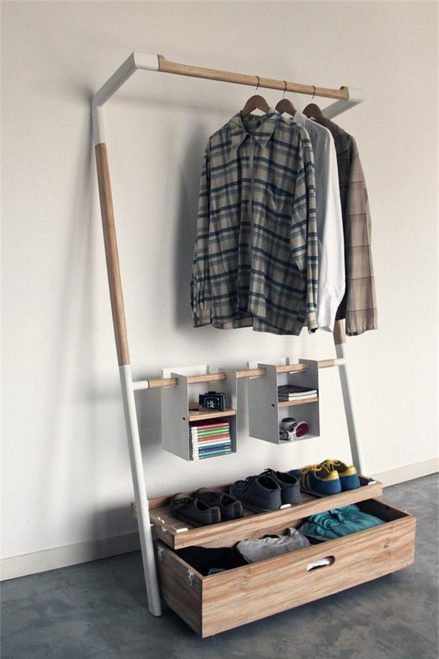 Những giải pháp lưu trữ quần áo sáng tạo dành riêng cho không gian nhỏ  - Ảnh 11.