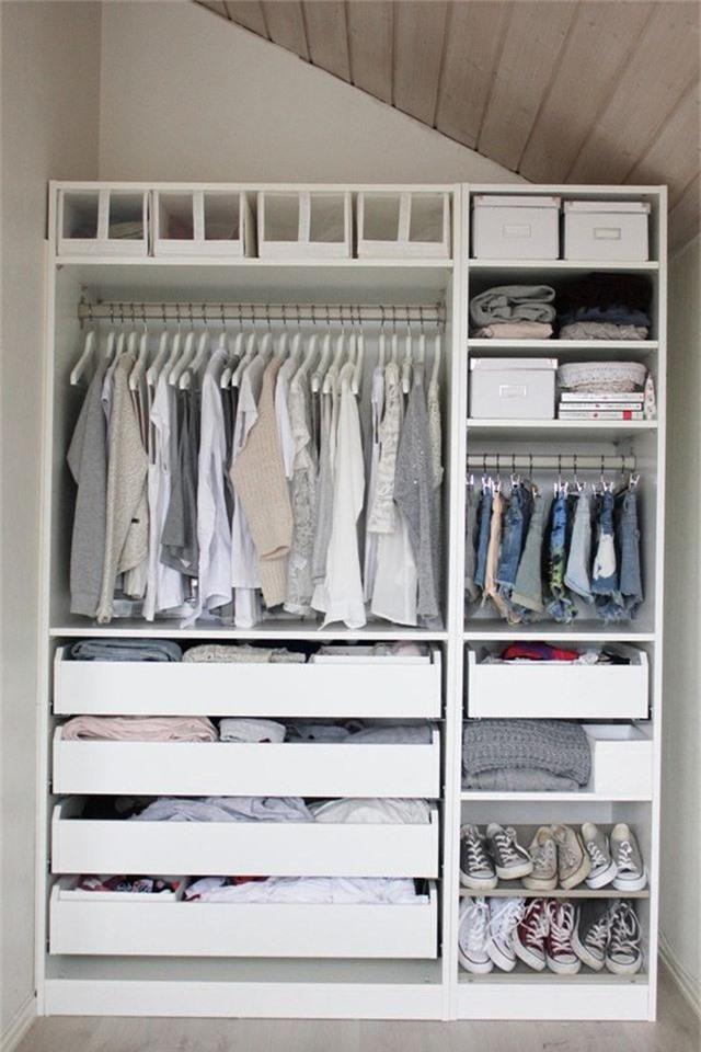 Những giải pháp lưu trữ quần áo sáng tạo dành riêng cho không gian nhỏ  - Ảnh 3.