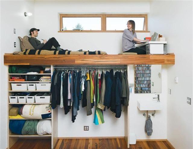 Những giải pháp lưu trữ quần áo sáng tạo dành riêng cho không gian nhỏ  - Ảnh 4.