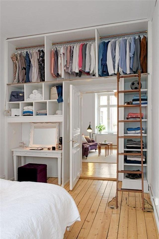 Những giải pháp lưu trữ quần áo sáng tạo dành riêng cho không gian nhỏ  - Ảnh 7.