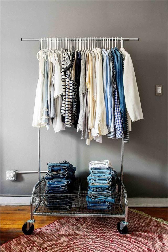 Những giải pháp lưu trữ quần áo sáng tạo dành riêng cho không gian nhỏ  - Ảnh 9.