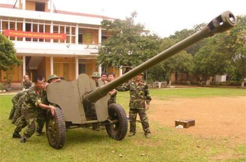 D-44 85mm có trọng lượng tổng thể 1,7 tấn, dài 8,34m, rộng 1,78m và cao 1,42m với kíp chiến đấu 8 người. Ảnh: QPVN