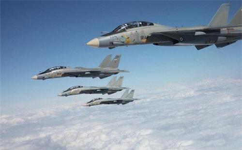 Tiêm kích F-14A Tomcat của Không quân Iran. Ảnh: IRAF.