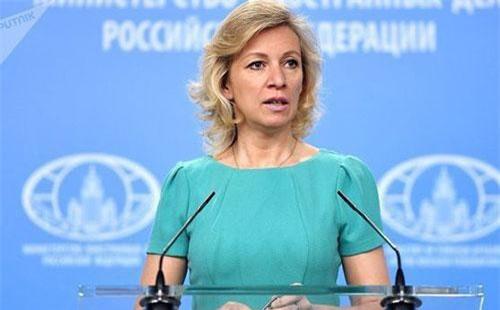 Phát ngôn viên Bộ Ngoại giao Nga Maria Zakharova. Ảnh: Sputnik.