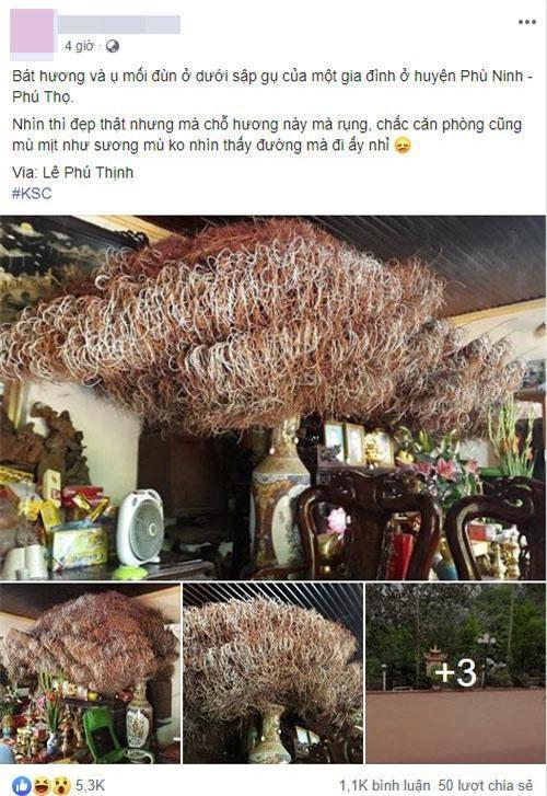 Chiếc bát hương của một gia đình ở Phú Thọ