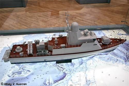 Mô hình tàu tên lửa tấn công nhanh lớp Catran - Dự án 20970. Ảnh: Vitaly V. Kuzmin.