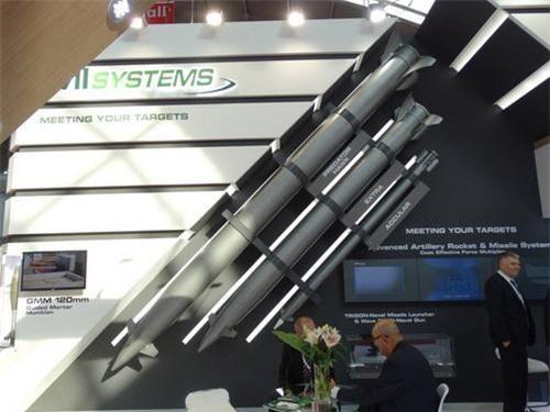 Đạn dẫn đường AccuLAR 122 mm đã được Tập đoàn IMI chính thức giới thiệu. Ảnh: IMI Systems.