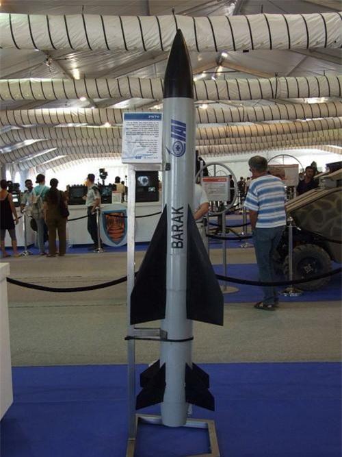 Tên lửa phòng không Barak-1. Ảnh: IAI.