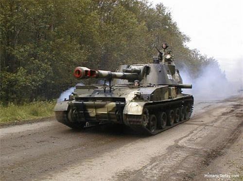 Pháo tự hành 2S3 Akatsiya của quân đội Nga. Ảnh: Military Today.