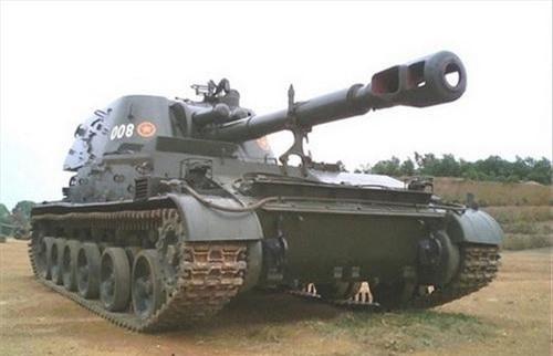 Pháo tự hành 2S3 Akatsiya của quân đội Việt Nam. Ảnh: Quân đội nhân dân.