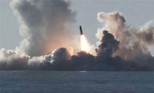 Tên lửa Bulava. Ảnh: Bộ Quốc phòng Nga.