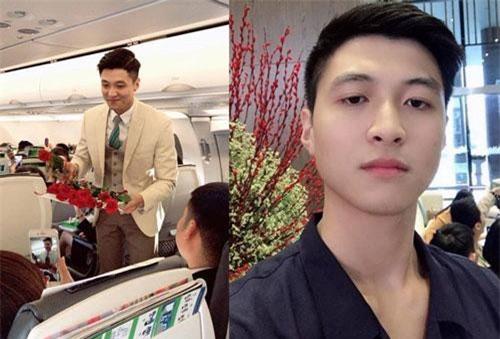 Xuất hiện trong bức hình do hành khách chụp trên máy bay hồi cuối tháng 2, một chàng tiếp viên hàng không có gương mặt thanh tú khiến dân mạng tò mò. Thông tin về anh nhanh chóng được tìm ra. Theo đó, nam chính trong hình là Phạm Việt Hưng, 23 tuổi, đang sống tại TP.HCM.