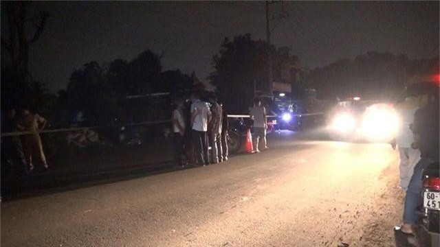Hiện trường vụ va chạm giao thông khiến 1 người bị đánh tử vong.