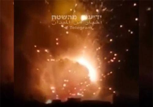 Israel tấn công các mục tiêu ở phía nam Damascus vào cuối ngày 24, rạng sáng 25/8 (Ảnh: Jerusalem Post)