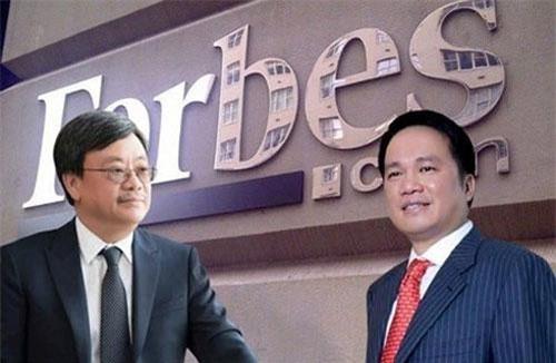 Ông Nguyễn Đăng Quang (trái) và ông Hồ Hùng Anh.