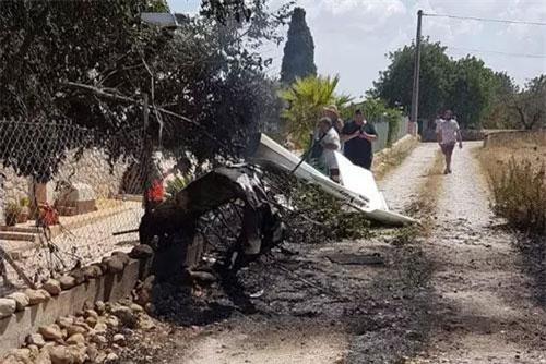 Hiện trường tai nạn máy bay ở Mallorca. (Ảnh: AP)