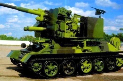 Pháo phòng không tự hành 100mm dựa trên khung gầm T-34-85. Ảnh: Global Security