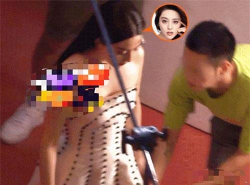 Ảnh chụp hậu trường quảng cáo của Phạm Băng Băng