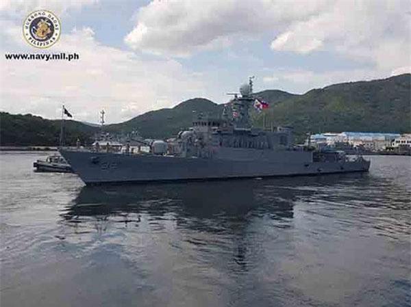 Tàu BRP Conrado Yap (Tàu tuần tra 39) cập cảng Nam Manila ngày 18/8.