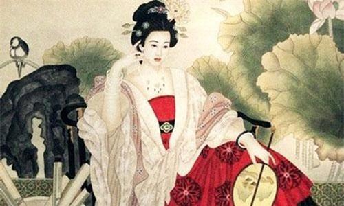 Vẻ đẹp đầy đặn của Dương Quý phi chính là một trong những biểu tượng thể hiện quan niệm thẩm mỹ của thời nhà Đường. (Tranh minh họa: Nguồn Internet).