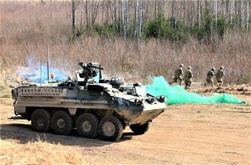 M1126 Stryker trong một buổi diễn tập. Nguồn ảnh: strategic-bureau.com