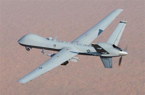 Vụ việc diễn ra tại Yemen khi một chiếc máy bay không người lái MQ-9 do Không quân Mỹ điều khiển đang làm nhiệm vụ trinh sát một mục tiêu mặt đất ở phía đông nam thủ đô Sanaa của quốc gia này. Nguồn ảnh: USAF.