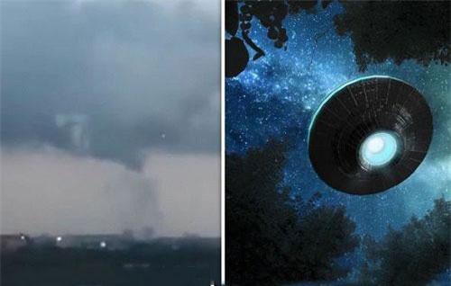 Hình ảnh được cho là của UFO bay trên bầu trời Amsterdam, Hà Lan. Ảnh: Getty