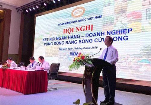 Phó Thống đốc thường trực NHNN Đào Minh Tú phát biểu tại hội nghị. (Ảnh: VGP).