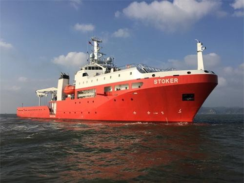 Tàu cứu hộ tàu ngầm Stoker của Hải quân Hoàn gia Ausralia. Ảnh: Maritime Executive.com.