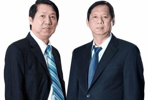 Hai anh em ông Trần Kim Thành - ông Trần Lệ Nguyên.