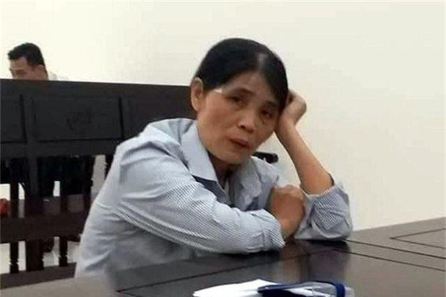 Đỗ Thị Hòa tại tòa phúc thẩm.