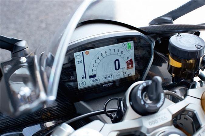 Chi tiet sportbike Triumph cong suat 128 ma luc, gioi han 765 chiec hinh anh 3