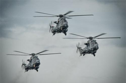 Trực thăng EC 725 mà Malaysia mua của Pháp cho nhiệm vụ cứu hộ cứu nạn hàng hải. Ảnh: Dambiev