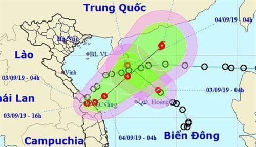 Vị trí và hướng di chuyển của 2 cơn áp thấp nhiệt đới. (Ảnh: NCHMF).