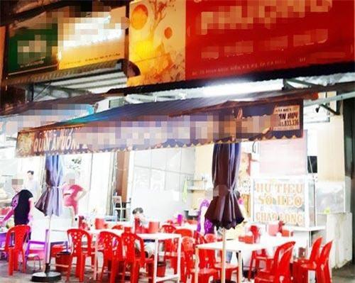 Khu vực quán ăn nơi xảy ra vụ việc.