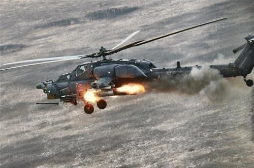 Theo Wikipedia, Mi-28NE là phiên bản xuất khẩu của dòng trực thăng tấn công ban đêm Mi-28N do Mil Moscow - nhà thiết kế Mi-8/17/24 phát triển. Mẫu trực thăng được thiết kế tối ưu cho hoạt động tác chiến ban đêm, trong nhiều điều kiện thời tiết phức tạp. Ảnh: Wikipedia