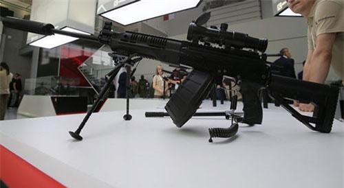 Súng RPK-16 trong triển lãm quân sự. Ảnh: Sputnik