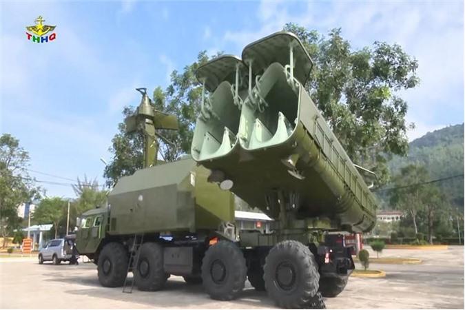 Hệ thống tên lửa bờ biển 4K51 Rubezh. Ảnh: Truyền hình Hải quân