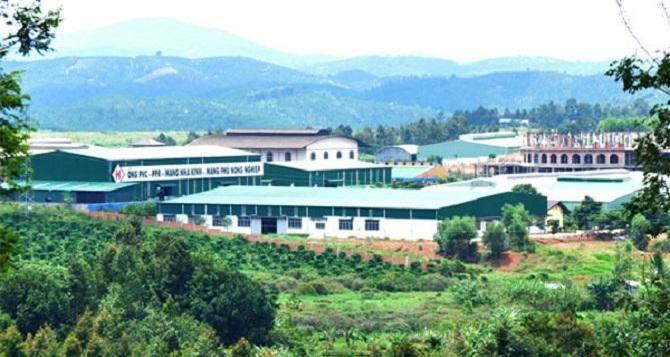 Một góc Khu công nghiệp Lộc Sơn, TP. Bảo Lộc (Ảnh: TL)