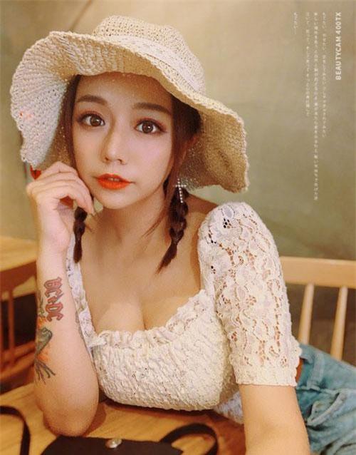Cô nàng hot girl Huỳnh Hiểu Dao xinh đẹp.