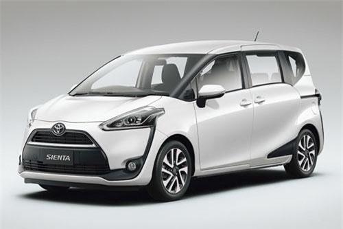 Toyota Sienta (doanh số: 8.745 chiếc).