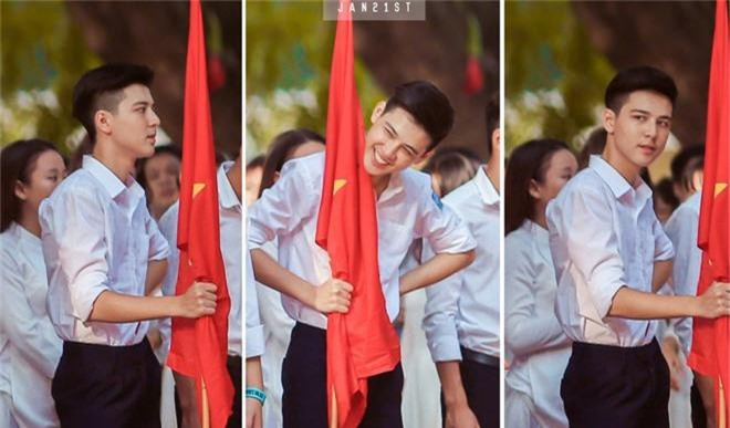 Hotboy cầm cờ đình đám một thời của trường Phan Đình Phùng nhan sắc thay đổi chóng mặt, gương mặt bây giờ phúng phính cực đáng yêu - Ảnh 5.