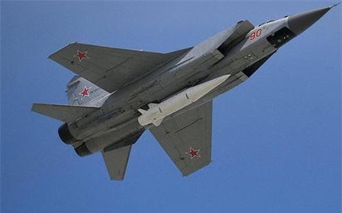 Tên lửa đạn đạo siêu vượt âm phóng từ trên không Kh-47M2 Kinzhal. Ảnh: Sputnik.