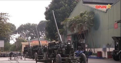 Pháo phòng không 57 mm S-60 AZP do Việt Nam tự nâng cấp. Ảnh: Quốc phòng Việt Nam.