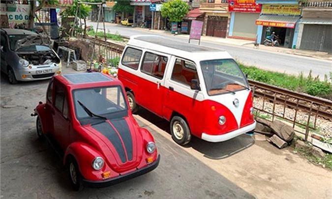 Nam sinh cap 3 lap rap oto dien dang Volkswagen o Nam Dinh-Hinh-2
