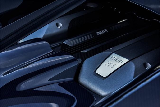 Sieu xe Bugatti Chiron ham ho voi than xe soi carbon xanh-Hinh-6