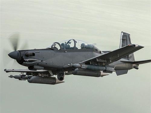Máy bay cường kích tấn công mặt đất AT-6B Wolverine - một phiên bản của T-6 Texan II. Ảnh: Wikipedia.