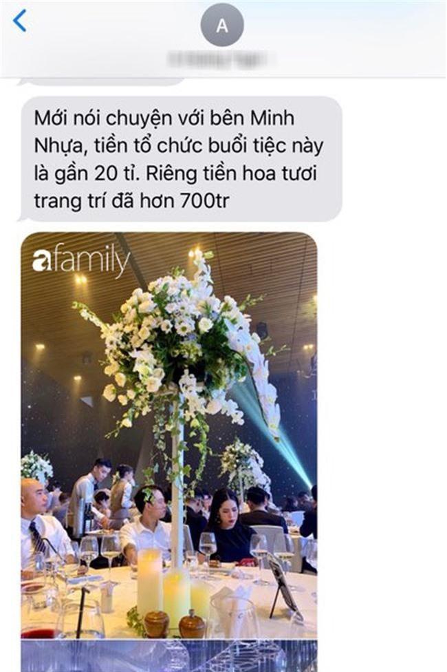 Tiết lộ kinh phí tổ chức tiệc cưới con gái Minh Nhựa đã lên tới 20 tỷ đồng, riêng tiền hoa trang trí đã là 700 triệu!-2